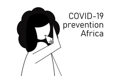 Info posters about COVID